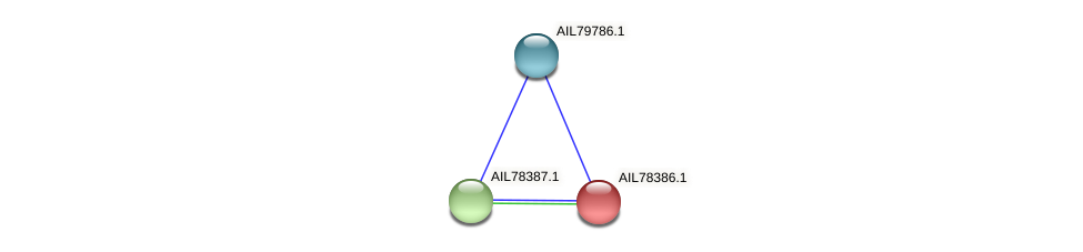 AIL78386.1 protein (Acinetobacter baumannii) - STRING interaction network