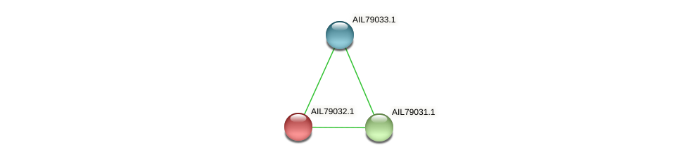 AIL79032.1 protein (Acinetobacter baumannii) - STRING interaction network