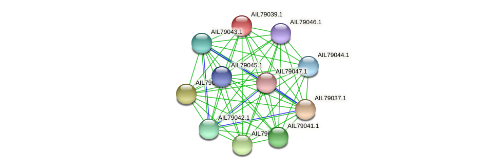 AIL79039.1 protein (Acinetobacter baumannii) - STRING interaction network