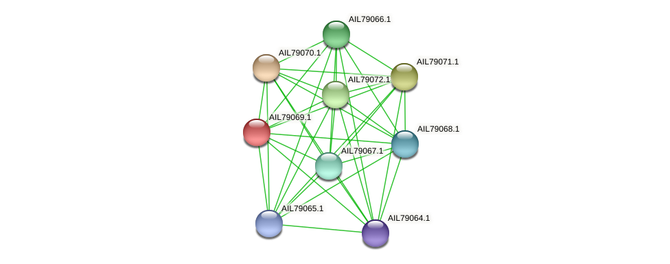 AIL79069.1 protein (Acinetobacter baumannii) - STRING interaction network