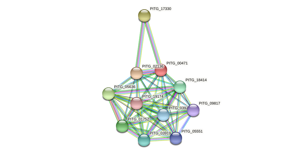 PITG_00471 protein (Phytophthora infestans) - STRING interaction network