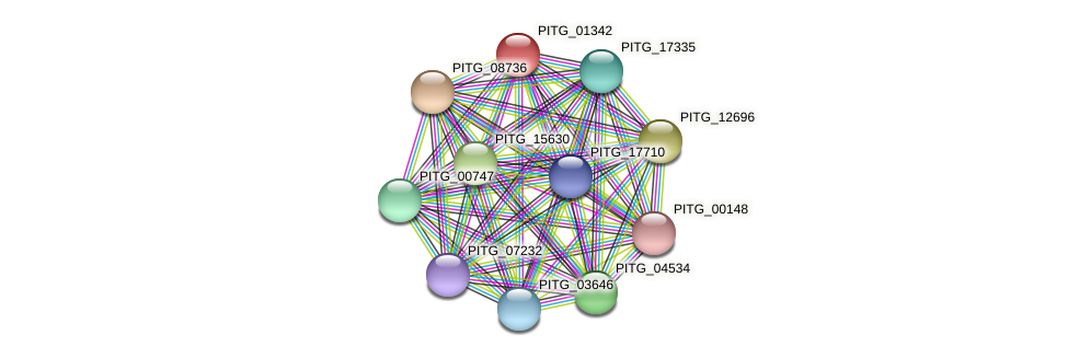 PITG_01342 protein (Phytophthora infestans) - STRING interaction network