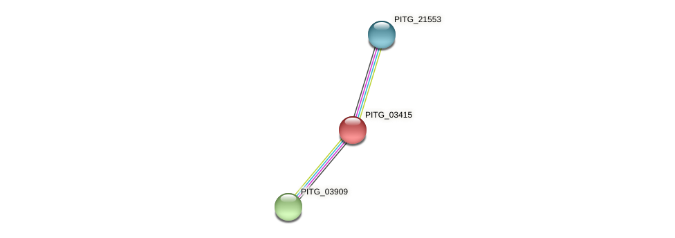 PITG_03415 protein (Phytophthora infestans) - STRING interaction network