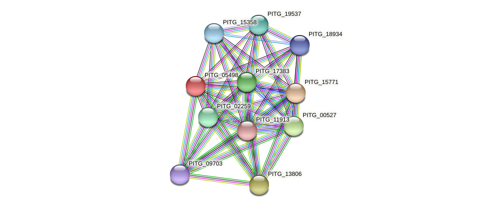 PITG_05498 protein (Phytophthora infestans) - STRING interaction network