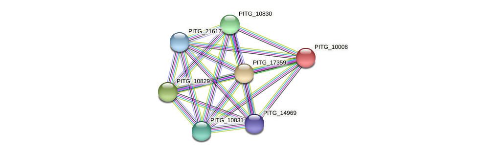 PITG_10008 protein (Phytophthora infestans) - STRING interaction network