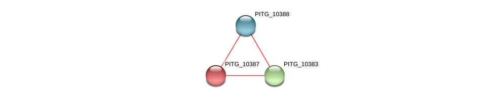 PITG_10387 protein (Phytophthora infestans) - STRING interaction network