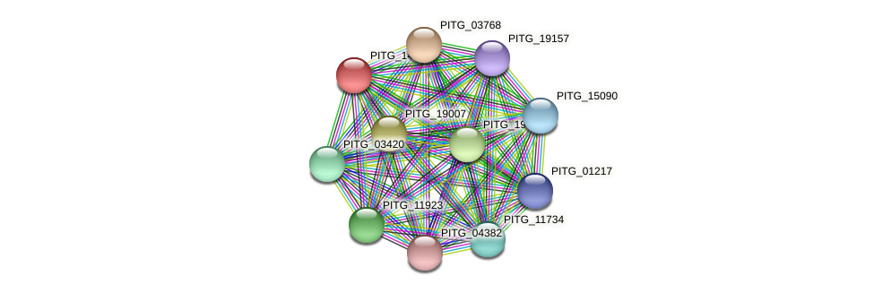 PITG_14608 protein (Phytophthora infestans) - STRING interaction network
