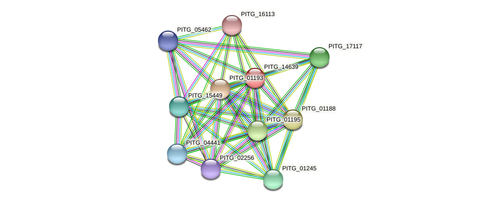 PITG_14639 protein (Phytophthora infestans) - STRING interaction network