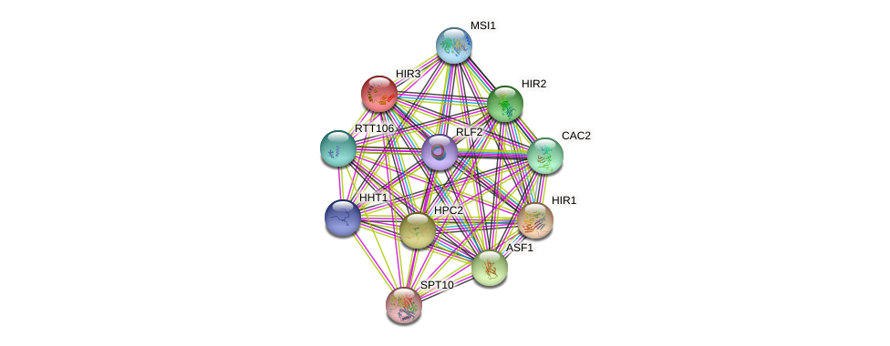 HIR3 protein (Saccharomyces cerevisiae) - STRING interaction network