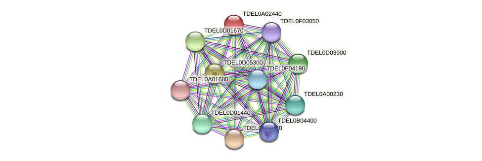 XP_003678787.1 protein (Torulaspora delbrueckii) - STRING interaction network
