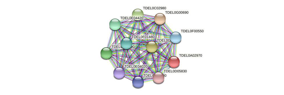 XP_003678840.1 protein (Torulaspora delbrueckii) - STRING interaction network