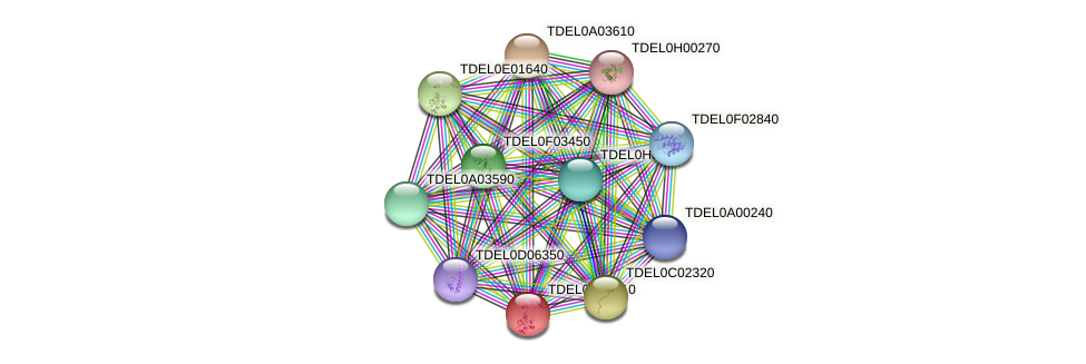 XP_003678944.1 protein (Torulaspora delbrueckii) - STRING interaction network