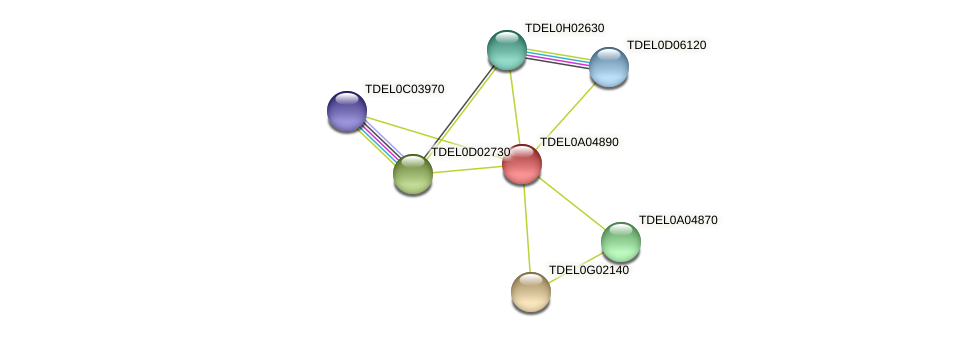 XP_003679032.1 protein (Torulaspora delbrueckii) - STRING interaction network