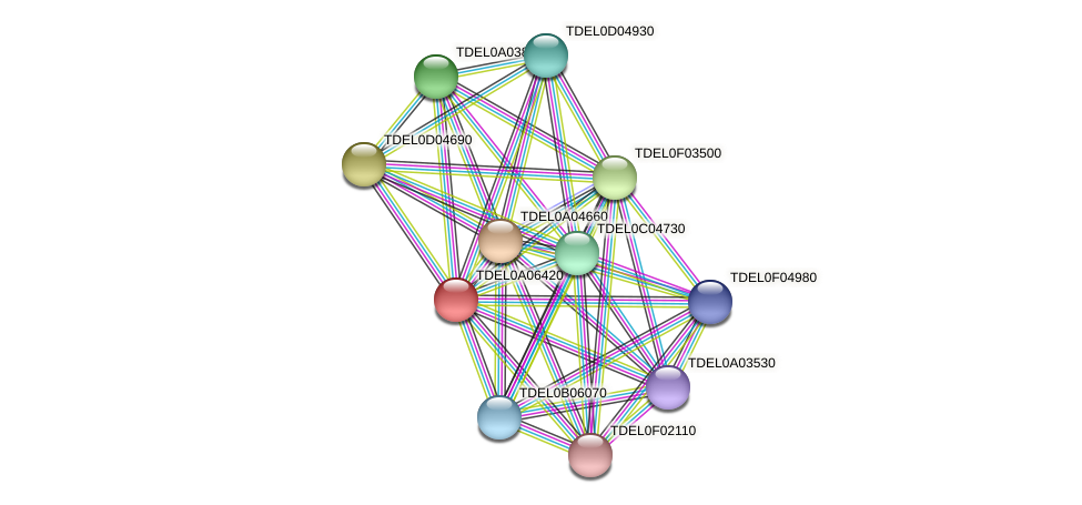 XP_003679185.1 protein (Torulaspora delbrueckii) - STRING interaction network