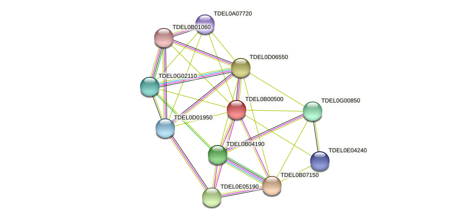 XP_003679390.1 protein (Torulaspora delbrueckii) - STRING interaction network