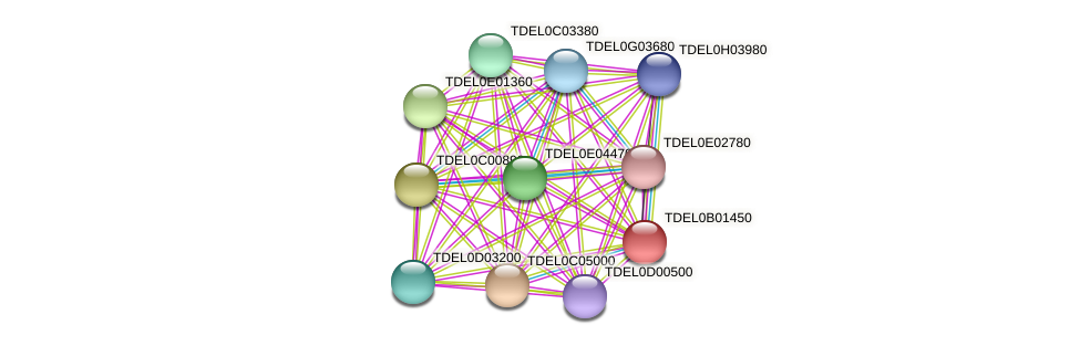 XP_003679485.1 protein (Torulaspora delbrueckii) - STRING interaction network