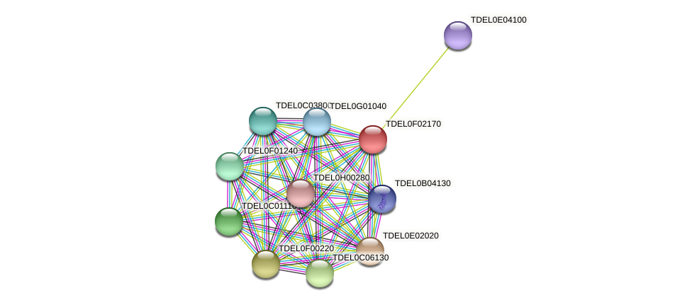 XP_003682239.1 protein (Torulaspora delbrueckii) - STRING interaction network