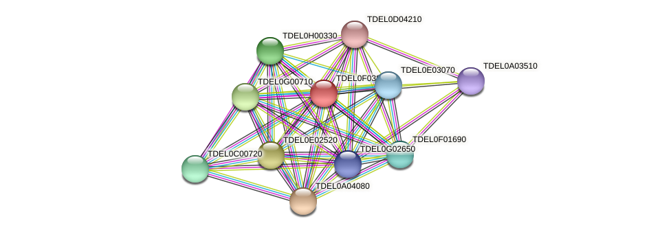 XP_003682410.1 protein (Torulaspora delbrueckii) - STRING interaction network