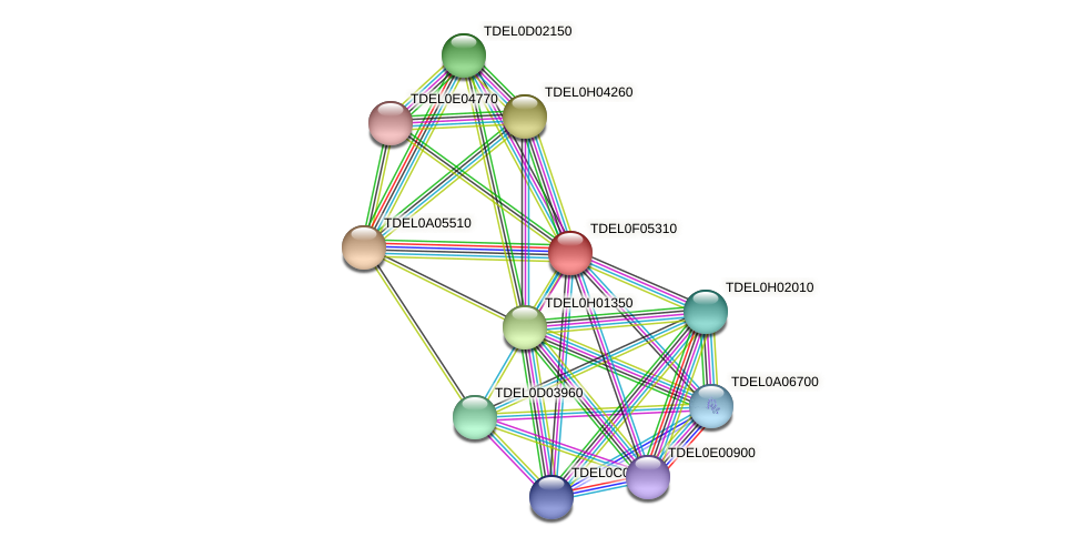 XP_003682553.1 protein (Torulaspora delbrueckii) - STRING interaction network
