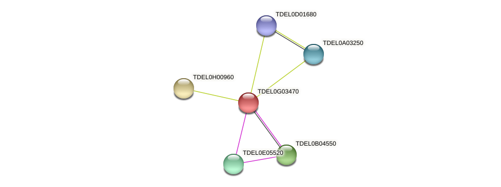 XP_003682925.1 protein (Torulaspora delbrueckii) - STRING interaction network