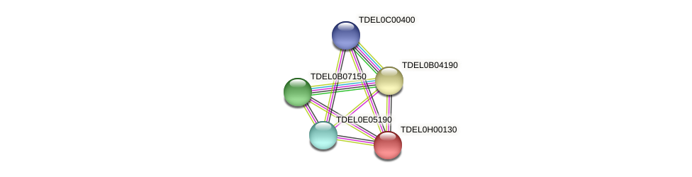 XP_003683083.1 protein (Torulaspora delbrueckii) - STRING interaction network