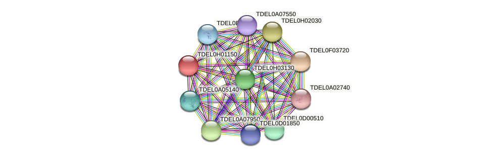 XP_003683185.1 protein (Torulaspora delbrueckii) - STRING interaction network
