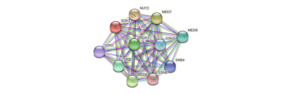 SOH1 protein (Yarrowia lipolytica) - STRING interaction network