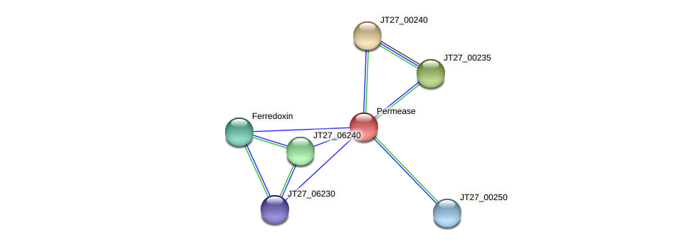 JT27_00245 protein (Alcaligenes faecalis) - STRING interaction network
