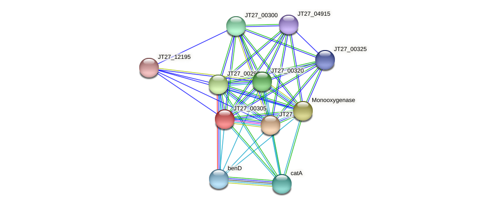 JT27_00305 protein (Alcaligenes faecalis) - STRING interaction network