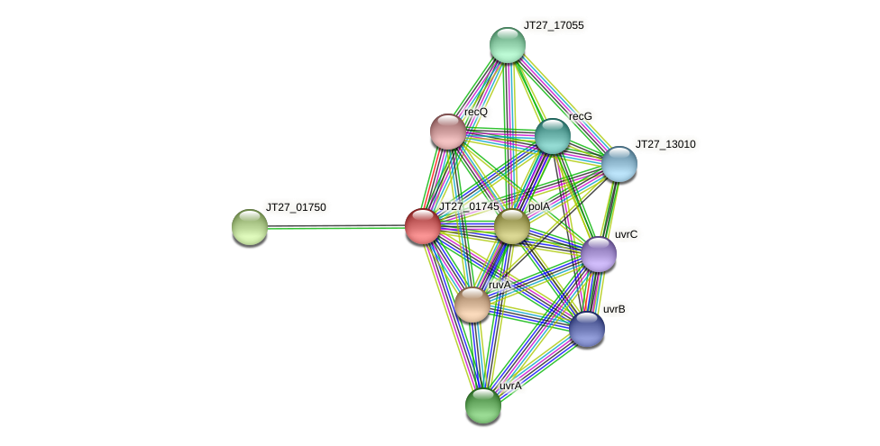 JT27_01745 protein (Alcaligenes faecalis) - STRING interaction network