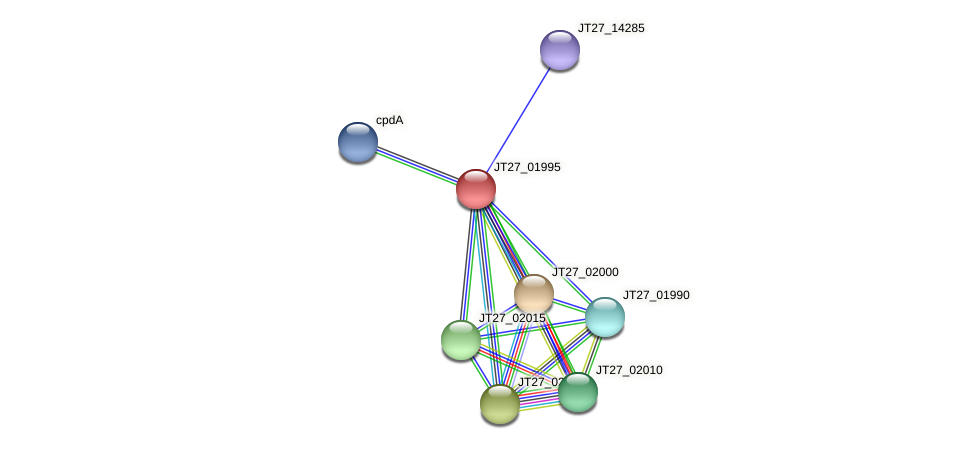 JT27_01995 protein (Alcaligenes faecalis) - STRING interaction network