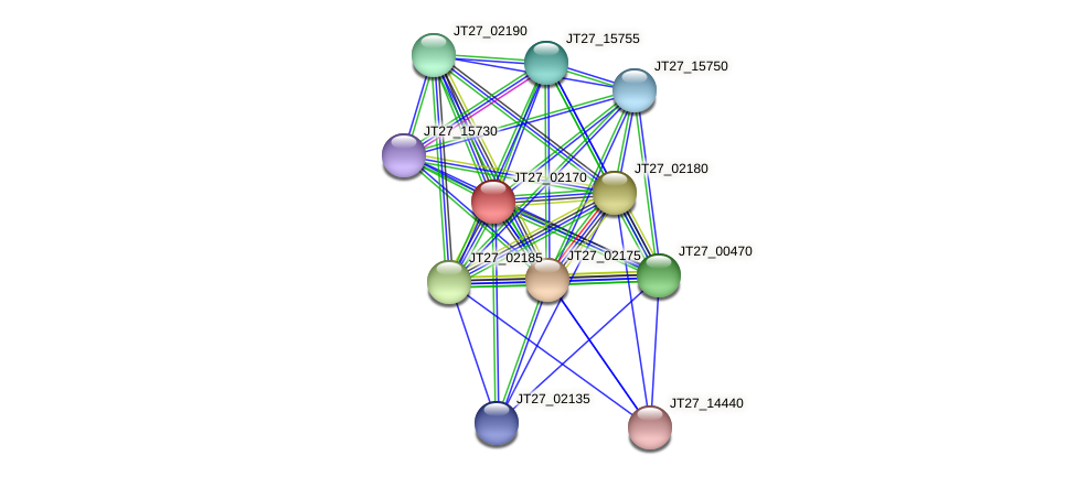 JT27_02170 protein (Alcaligenes faecalis) - STRING interaction network