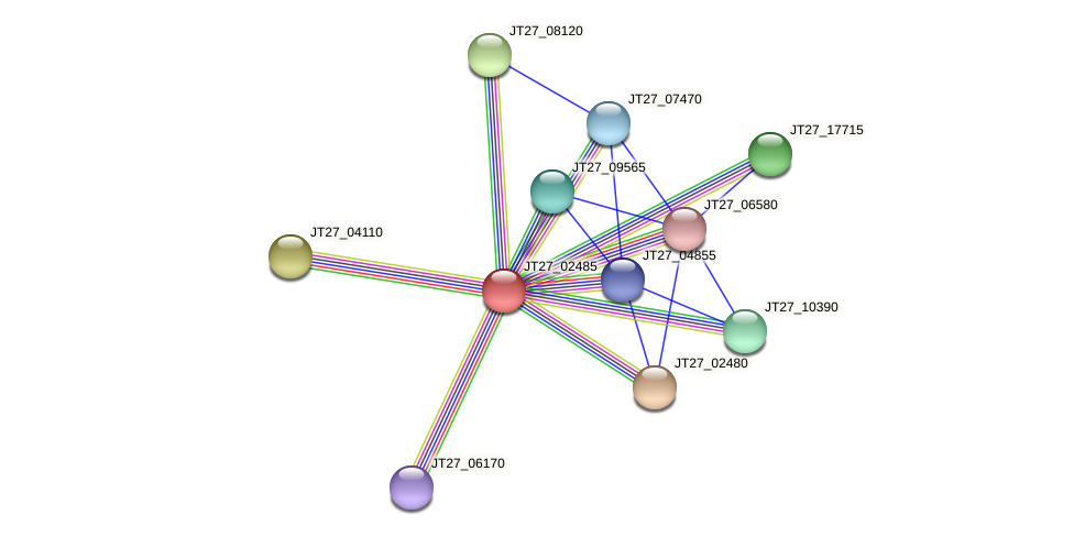 JT27_02485 protein (Alcaligenes faecalis) - STRING interaction network