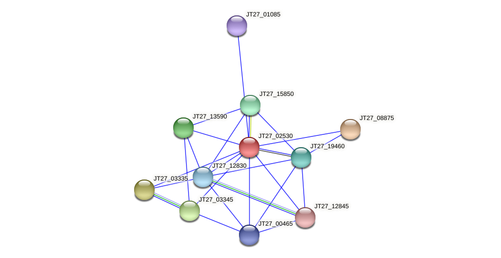 JT27_02530 protein (Alcaligenes faecalis) - STRING interaction network