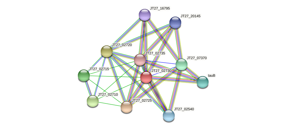 JT27_02730 protein (Alcaligenes faecalis) - STRING interaction network