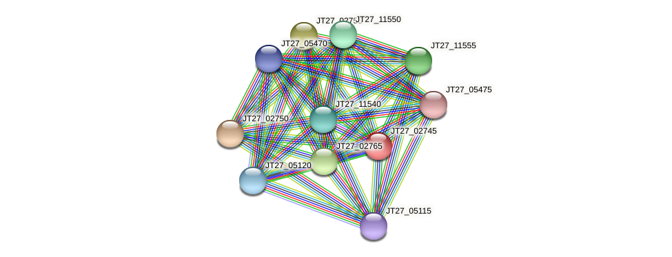 JT27_02745 protein (Alcaligenes faecalis) - STRING interaction network