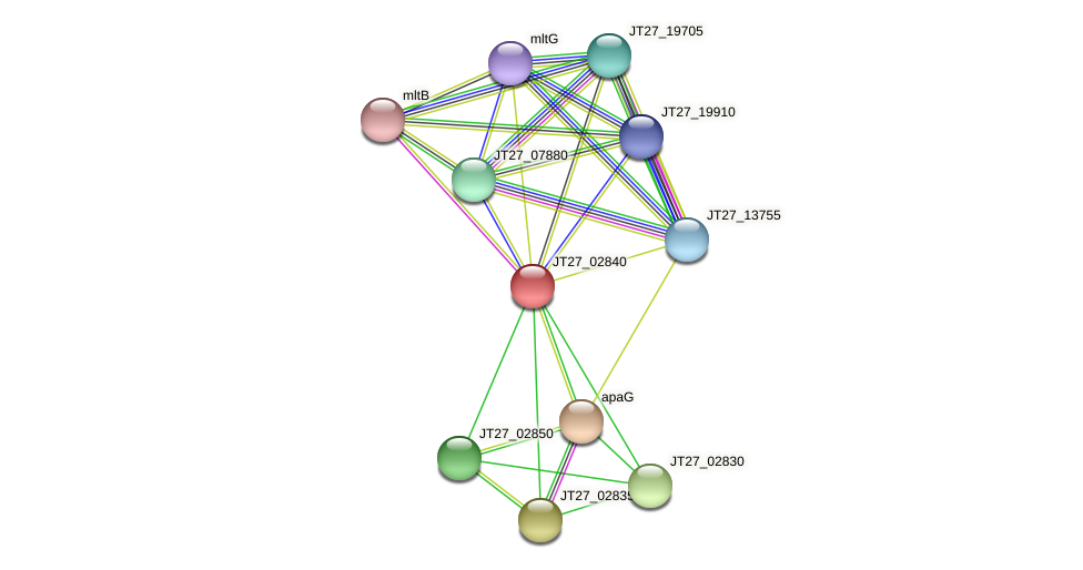 JT27_02840 protein (Alcaligenes faecalis) - STRING interaction network