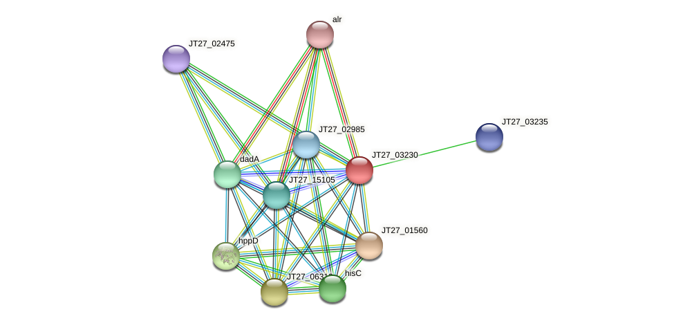 JT27_03230 protein (Alcaligenes faecalis) - STRING interaction network
