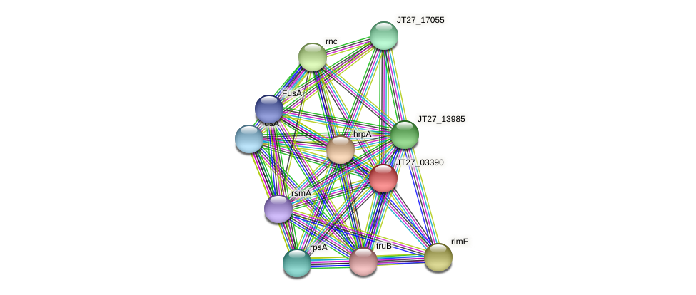 JT27_03390 protein (Alcaligenes faecalis) - STRING interaction network