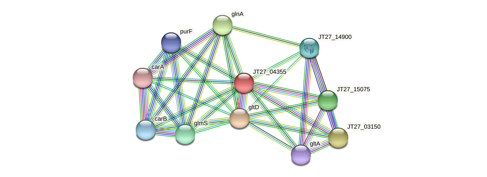 JT27_04355 protein (Alcaligenes faecalis) - STRING interaction network