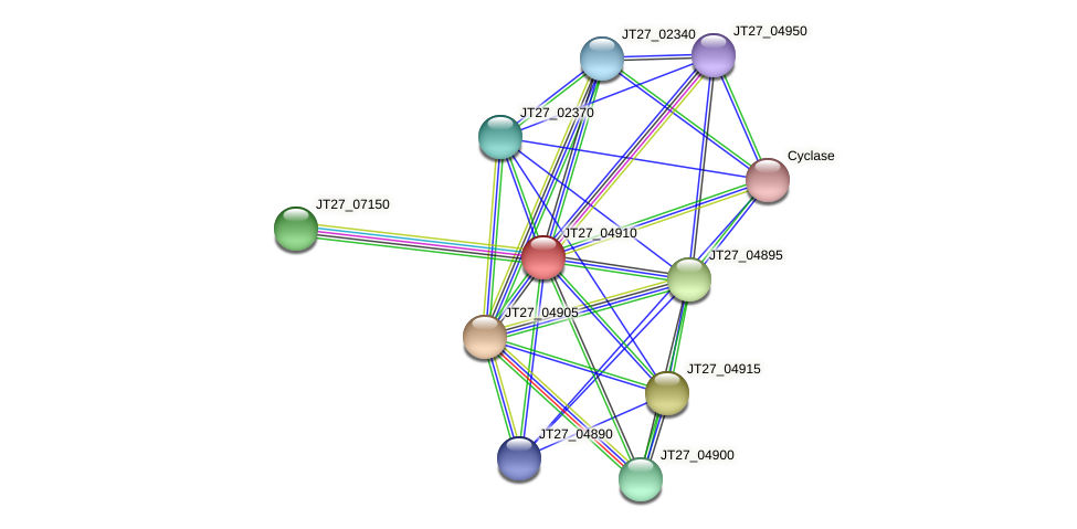 JT27_04910 protein (Alcaligenes faecalis) - STRING interaction network