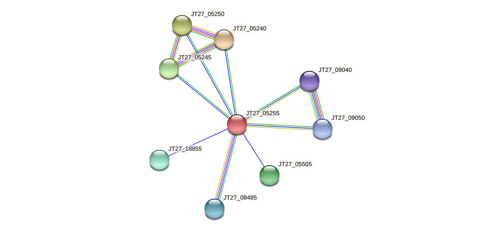 JT27_05255 protein (Alcaligenes faecalis) - STRING interaction network