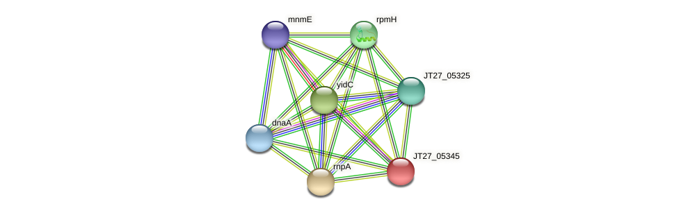 JT27_05345 protein (Alcaligenes faecalis) - STRING interaction network