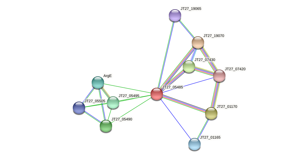 JT27_05485 protein (Alcaligenes faecalis) - STRING interaction network