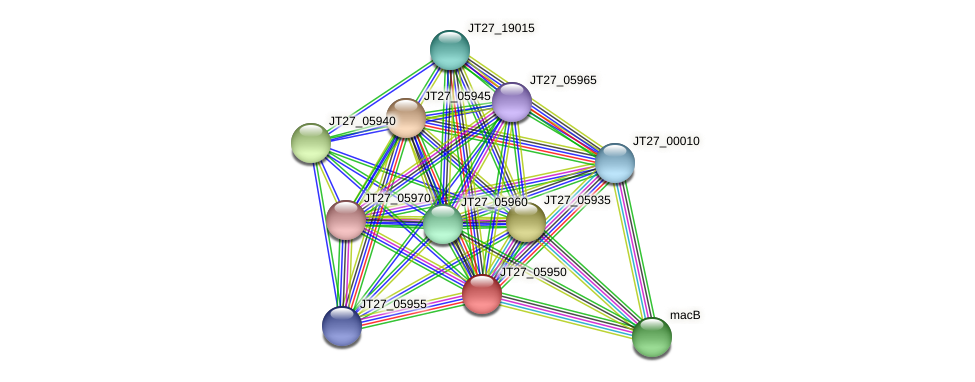 JT27_05950 protein (Alcaligenes faecalis) - STRING interaction network