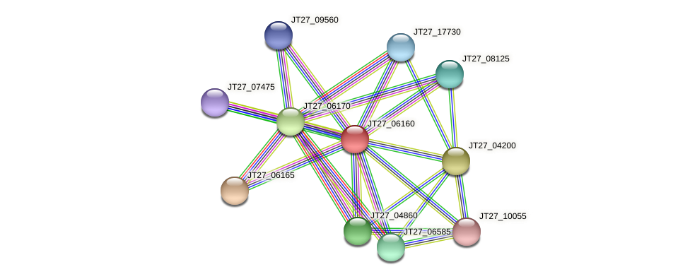 JT27_06160 protein (Alcaligenes faecalis) - STRING interaction network