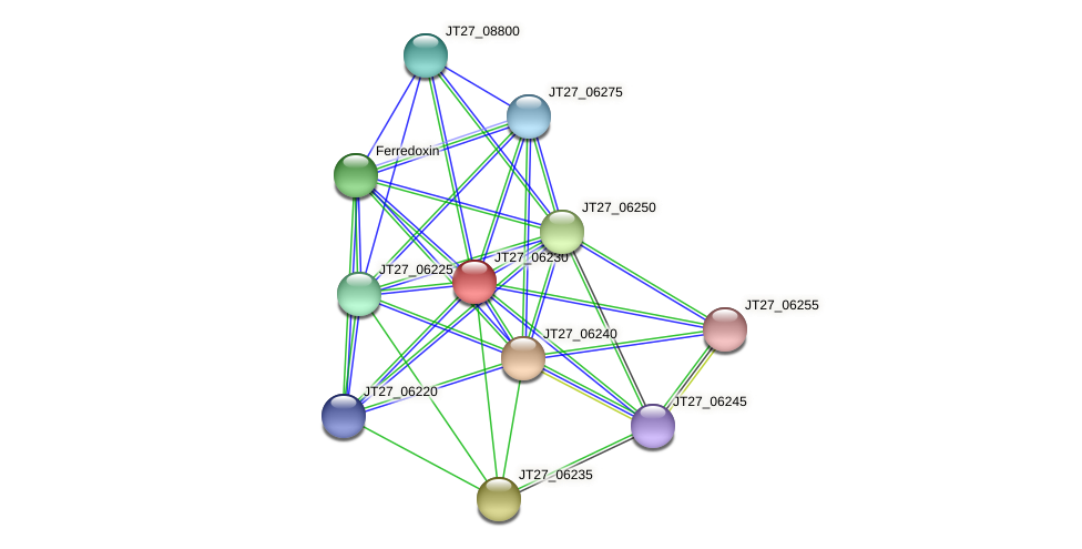 JT27_06230 protein (Alcaligenes faecalis) - STRING interaction network