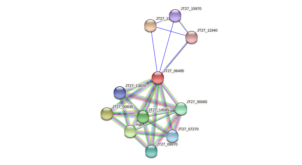 JT27_06495 protein (Alcaligenes faecalis) - STRING interaction network