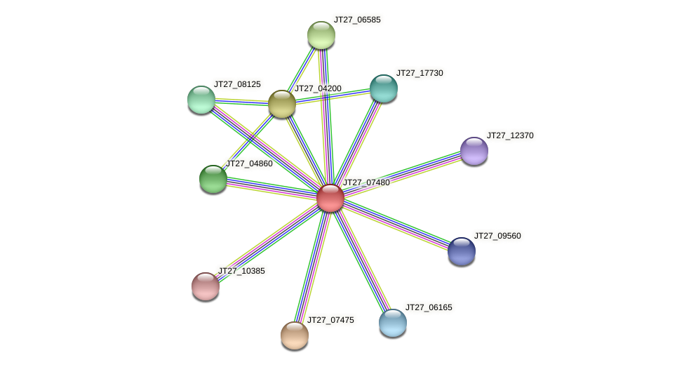 JT27_07480 protein (Alcaligenes faecalis) - STRING interaction network