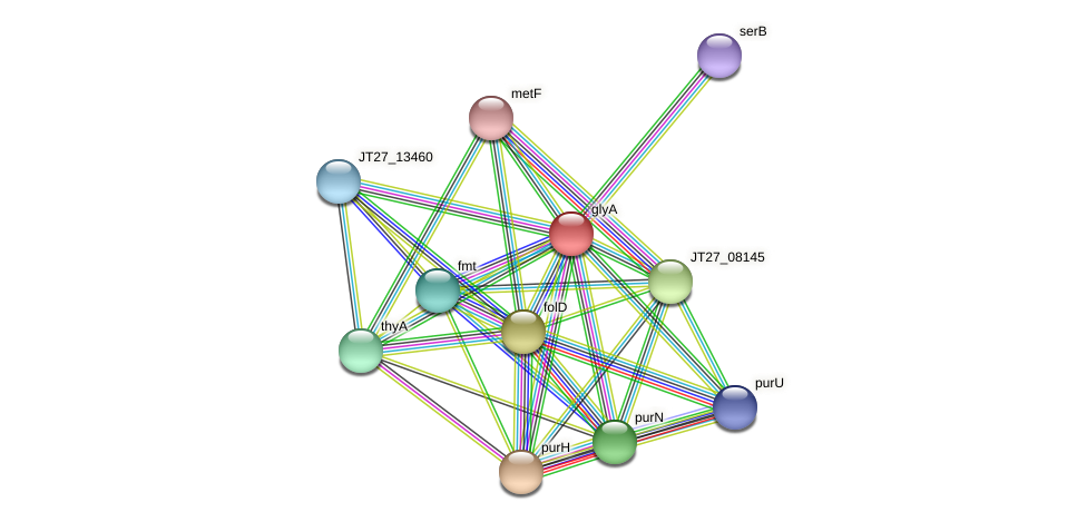 JT27_08770 protein (Alcaligenes faecalis) - STRING interaction network